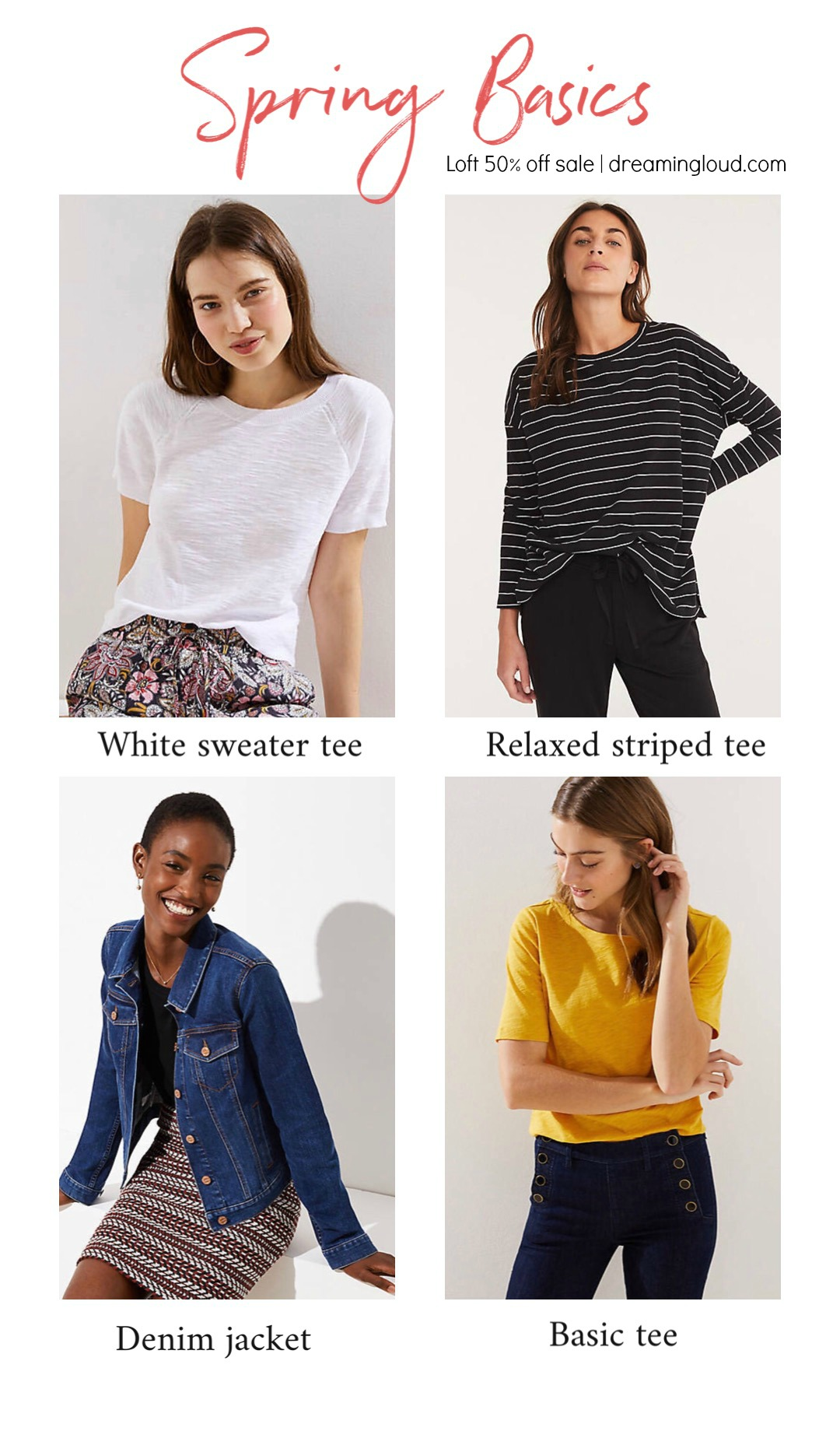 Spring LOFT sale favorites featured by top US modest fashion blog, Dreaming Loud