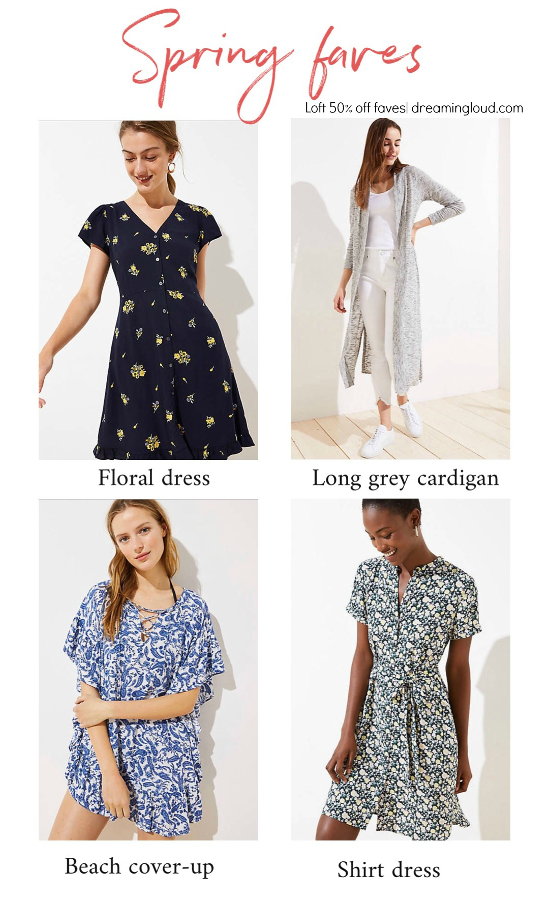 Spring faves from loft 50% off sale | Spring LOFT sale favorites featured by top US modest fashion blog, Dreaming Loud
