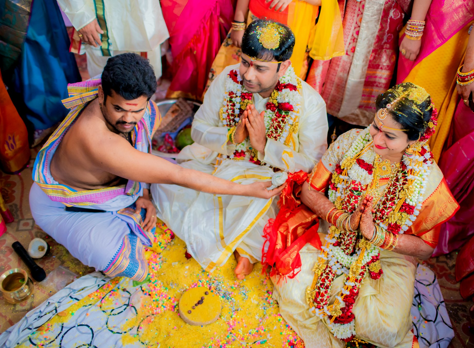 15 Hindu Telugu Rituals for your Traditional Indian Wedding Day featured by top US life and style blog, Dreaming Loud: Brahma Mudi