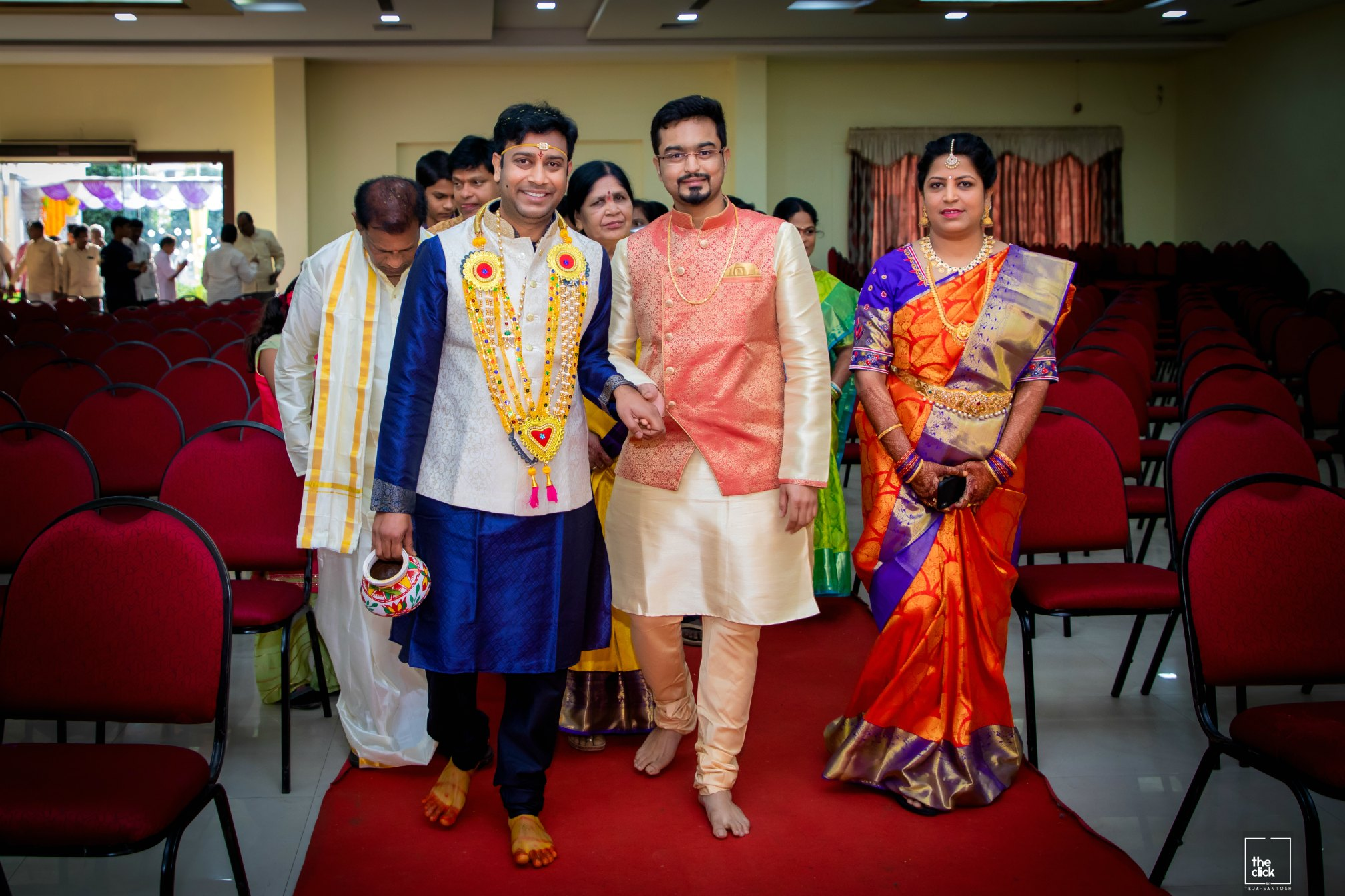 15 Hindu Telugu Rituals for your Traditional Indian Wedding Day featured by top US life and style blog, Dreaming Loud: image of Gowri Puja Significance: image of bride and groom entry and Terasala