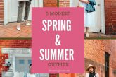 5 Cute Modest spring outfits featured by top US modest fashion blog, Dreaming Loud