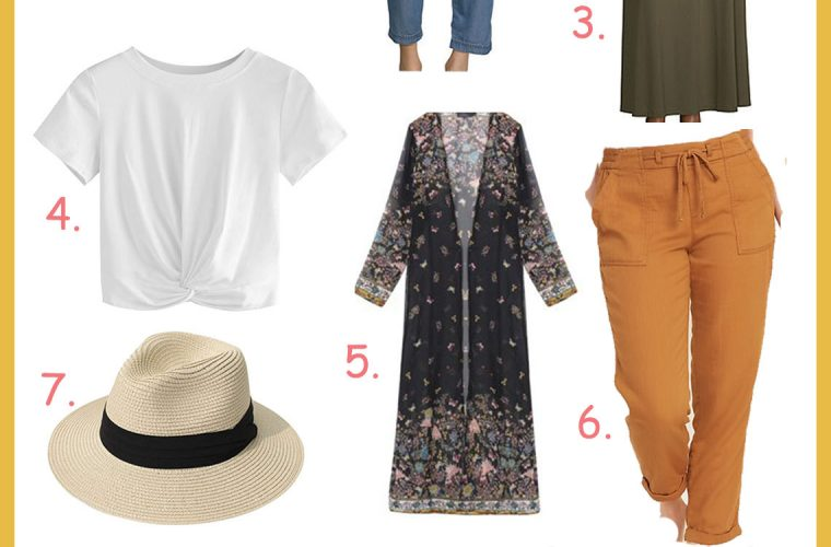 12 Basic Summer Essentials for your Closet Under $50 featured by top US modest fashion blog, Dreaming Loud