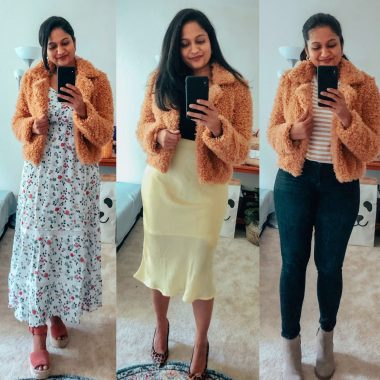 3 Ways to Style a BlankNYC Teddy Coat featured by top US modest fashion blog, Dreaming Loud