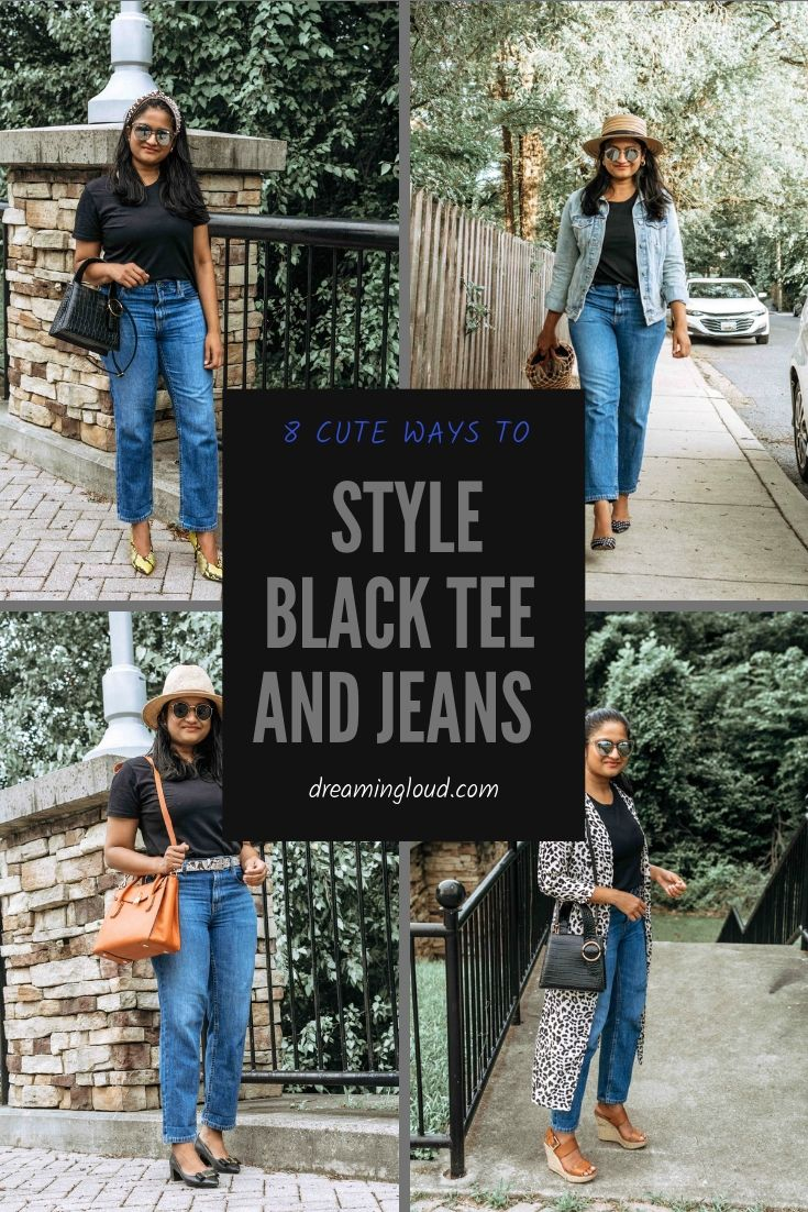 8 Cute Ways to Style a Black Tee and Jeans Outfit