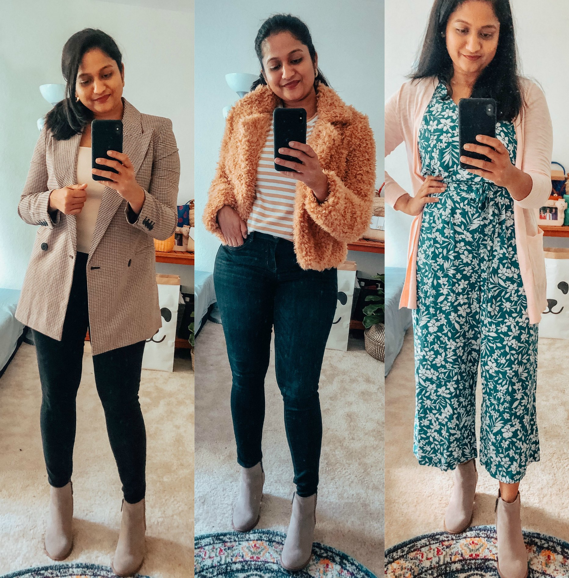 Top 10 Work Wardrobe Essentials from the 2019 Nordstrom Anniversary Sale featured by top US modest fashion blogger, Dreaming Loud: image of a woman wearing a Blondo Nina Waterproof Suede Boot 1