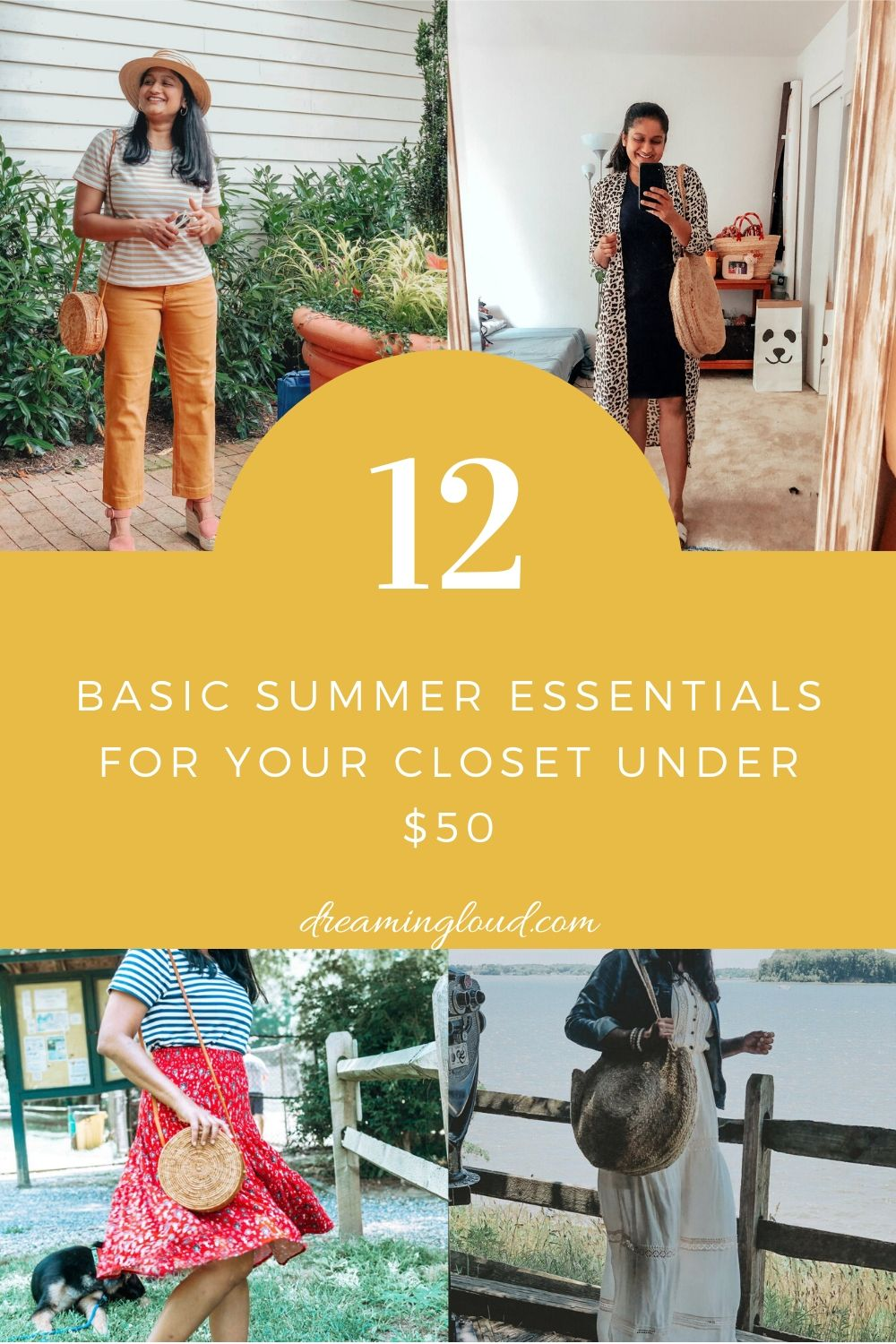 12 Basic Summer Essentials for your Closet Under $50 featured by top US blogger dreaming loud