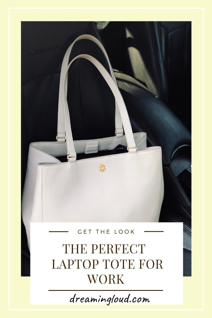 The Perfect Laptop Tote For Work Ft. Dagne Dover Medium Allyn Tote featured by US top Modest Blogger Dreaming Loud