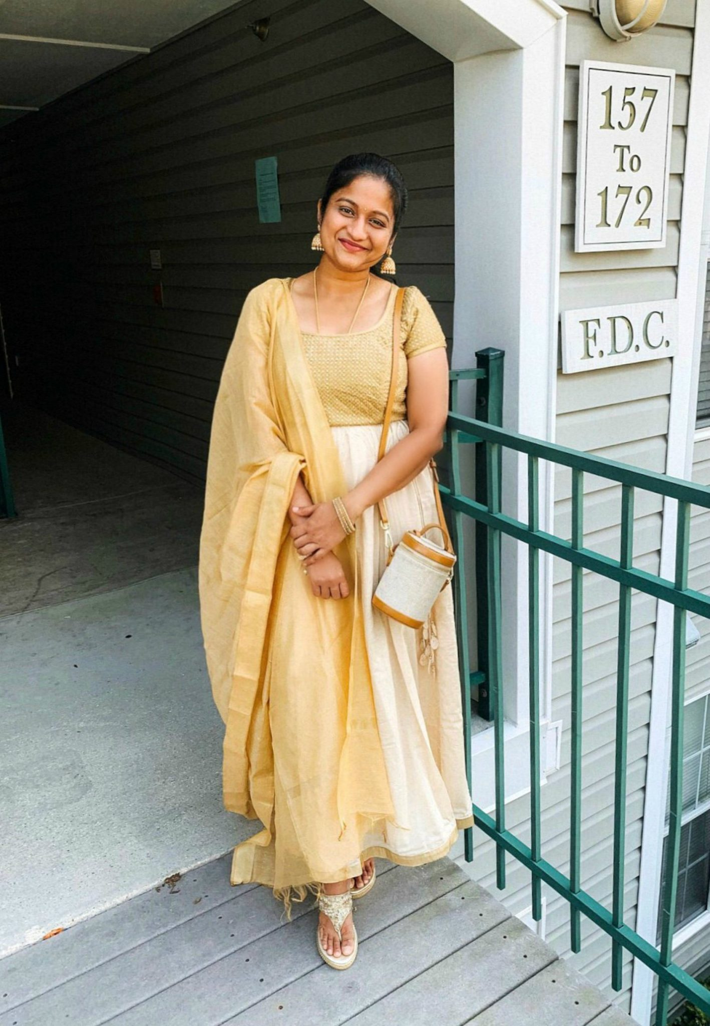 Highlights of 2019 featured by top US life and style blog, Dreaming Loud: Traditional Indian gold blouse and skirt look