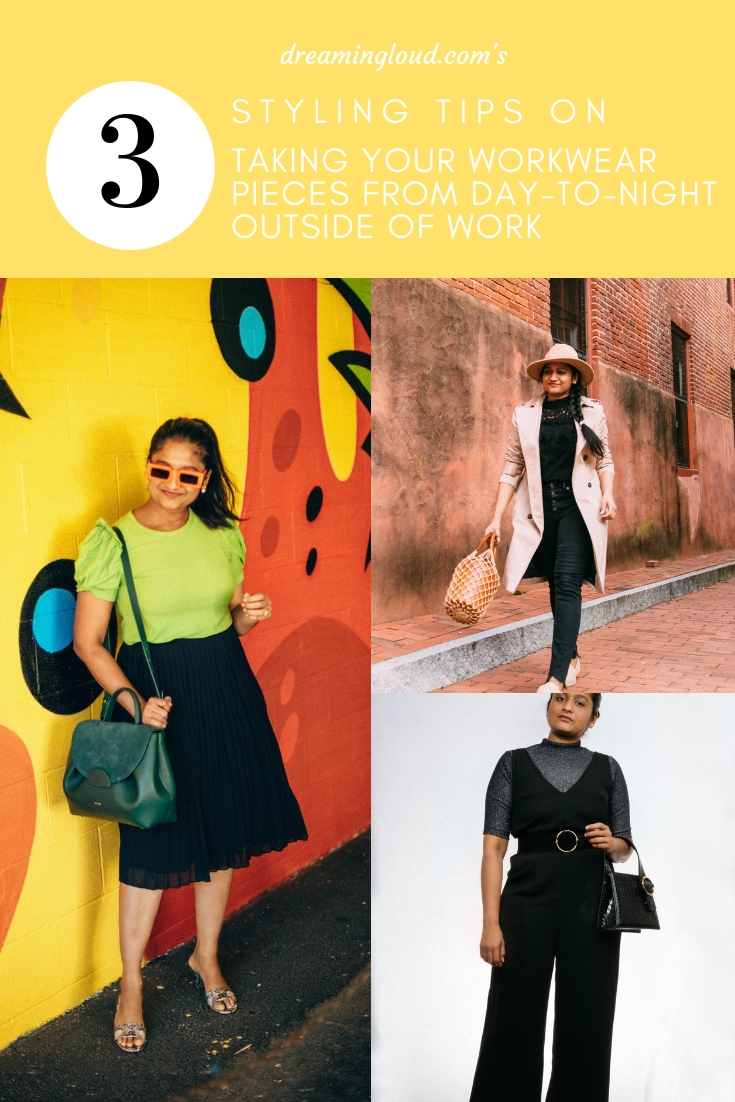 How to Take your Workwear Pieces from Day to Night featured by top US modest fashion blog, Dreaming Loud