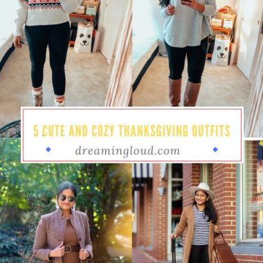 5 Cute and Cozy Thanksgiving Outfit Ideas featured by top US modest fashion blog, Dreaming Loud
