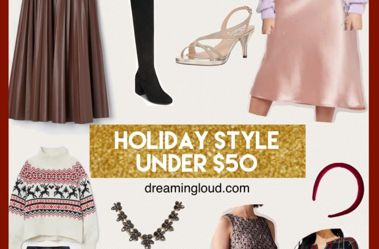 Holiday Style Essentials Under $50 featured by top US modest fashion blog, Dreaming Loud