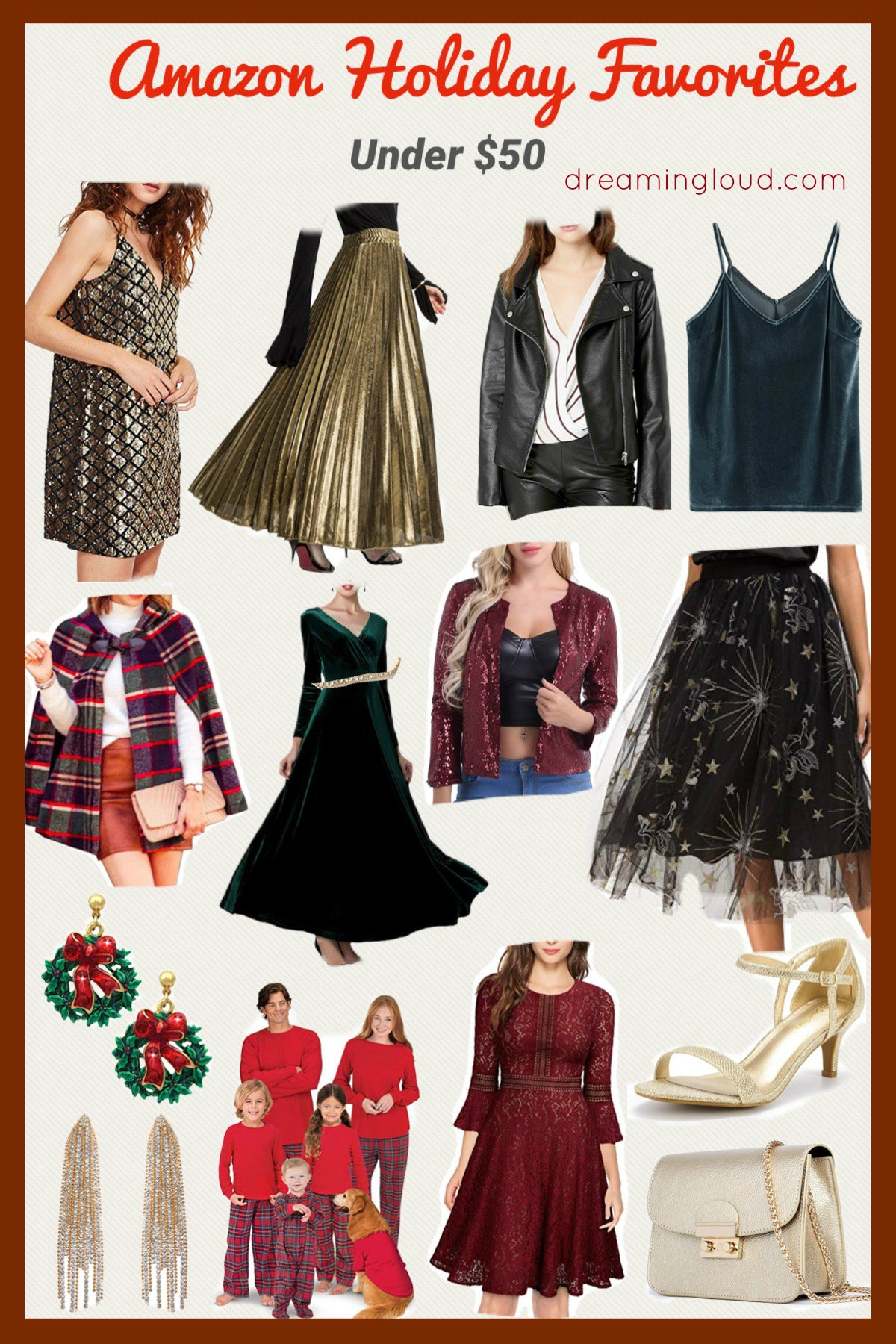 Amazon Holiday Fashion Favorites Under $50, featured by top US modest fashion blog, Dreaming Loud