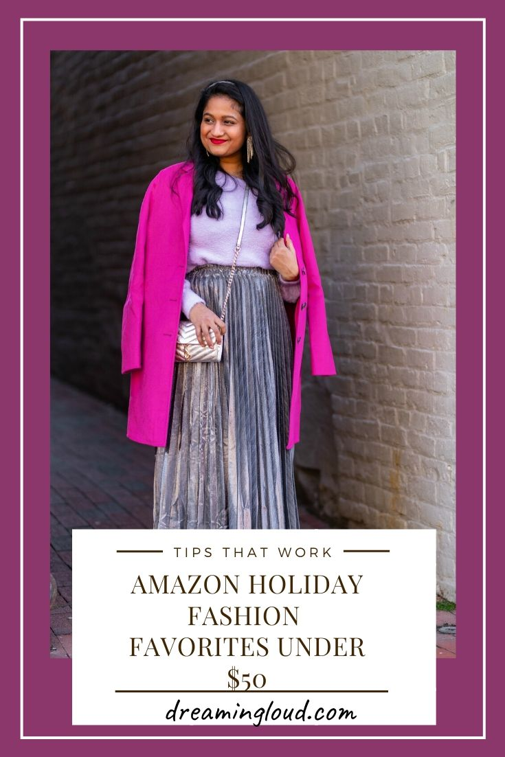 Amazon Holiday Fashion Favorites Under $50, featured by top US modest fashion blog, Dreaming Loud.