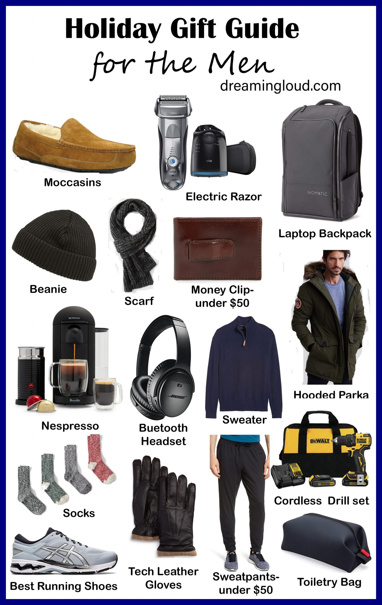 Best Gifts for Men 2019 featured by top US life and style blog, Dreaming Loud.