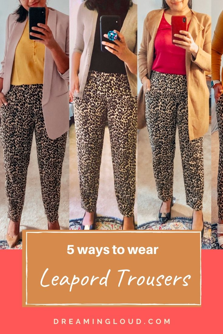How to Wear Leopard Print Pants for the Office featured by top US modest fashion blog, Dreaming Loud