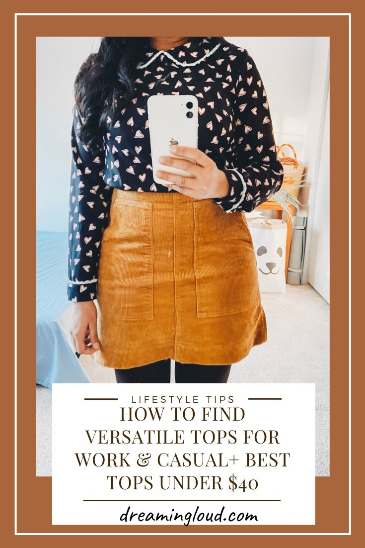 5 Tips to Shop for Versatile Workwear Tops for Women that you Can Also Wear Casually + best workwear tops under $40. Tips featured by top US modest fashion, Dreaming Loud