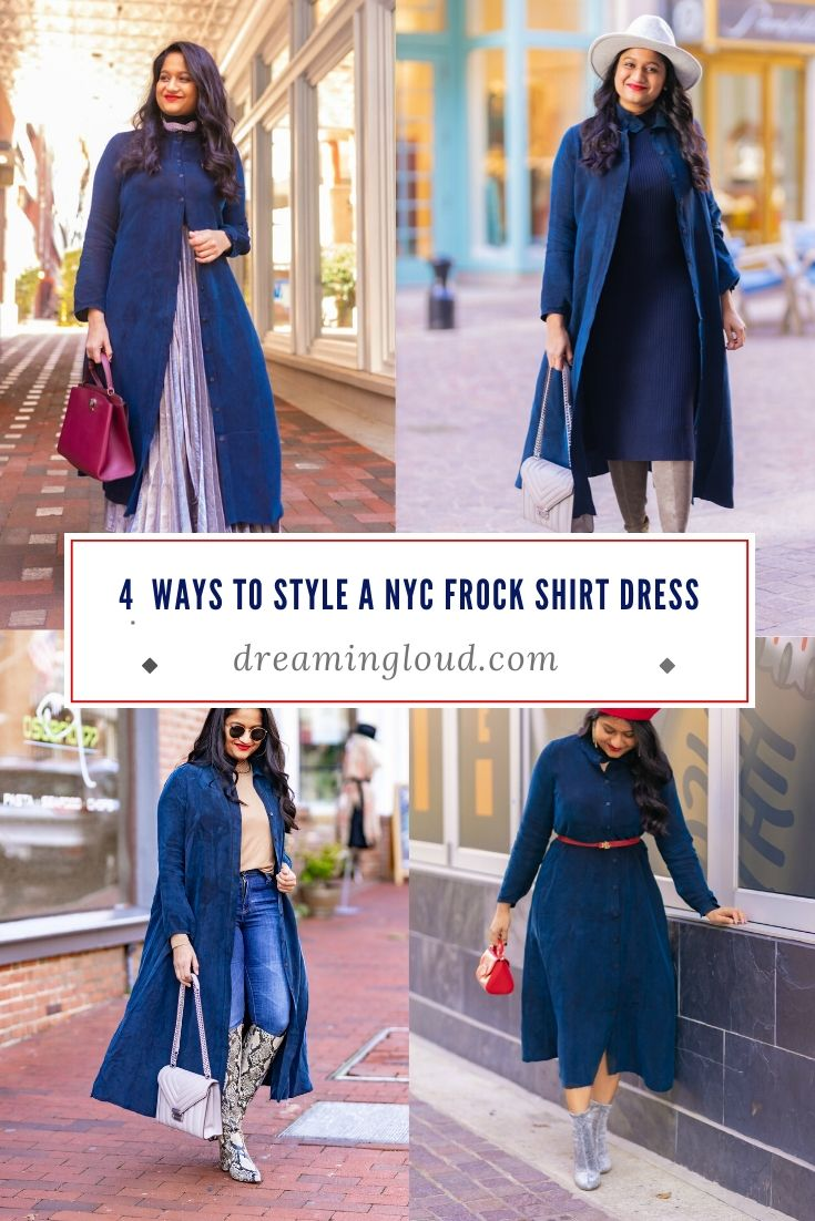 How to Style The Frock NYC Iconic Shirt Dress featured by top US modest fashion blog, Dreaming Loud