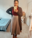 Uniqlo Wool Skirt Outfit