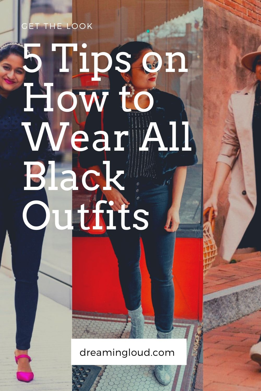 How to wear an all black outfit in the Spring, fashion tips featured by top US modest fashion blog, Dreaming Loud.