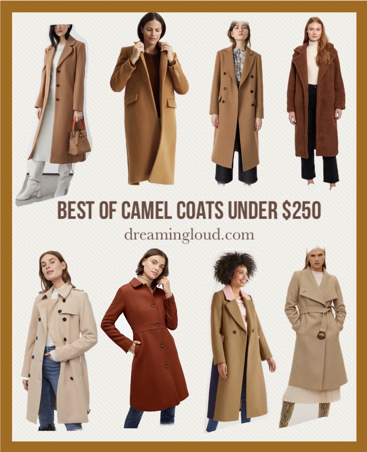 Camel Coat Outfits for Work styled by top US modest fashion blog, Dreaming Loud sharing Best Camel Coats under $250