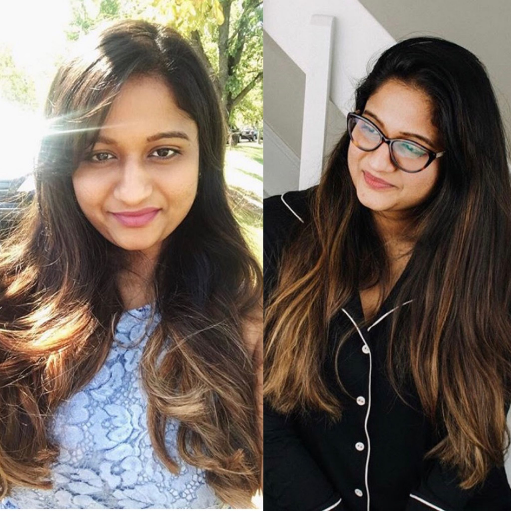 Everything You Need to Know about Balayage on Indian Hair featured by top US Indian blog, Dreaming Loud: image of warm chestnut brown with caramel Balayage highlights on dark hair