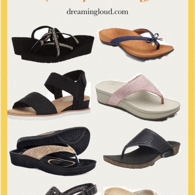 Comfortable Sandals for Women Roundup featured by top US modest fashion blog, Dreaming Loud