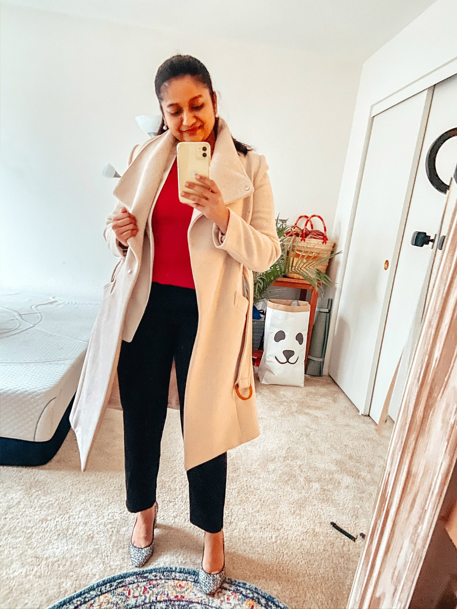 How to Style a White Blazer for Work, outfit featured by top US modest fashion blog, Dreaming Loud: image of a woman wearing J Crew Factory Jamie Pant, hot Pink blouse, white blazer