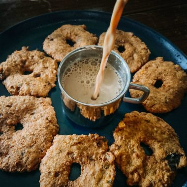Pesara Garelu Recipe – Green Moong Vada featured by Top US Vegan Food blogger dreaming loud1 Pesara Garelu Recipe by popular Maryland lifestyle blog, Dreaming Loud image of Pesara Garelu on a plate 2