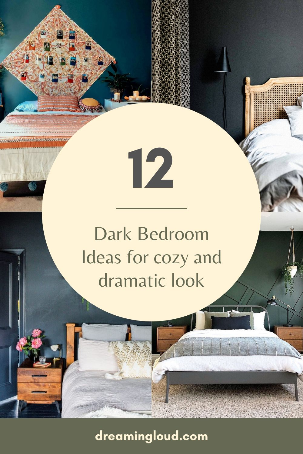 12 Dark Bedroom Ideas for a Cozy and Dramatic Look featured by top US lifestyle blog, Dreaming Loud
