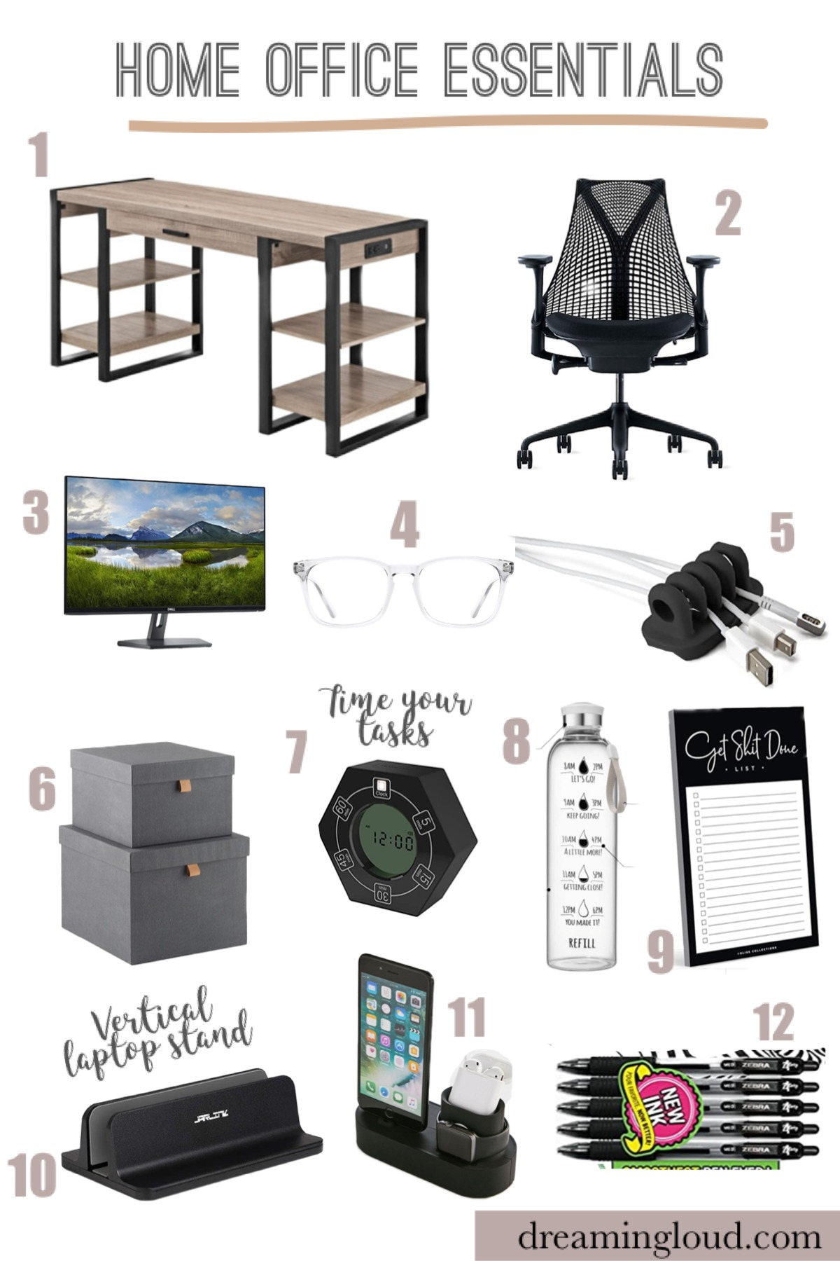 Home office essentials featured by top MI lifestyle blogger, Dreaming Loud.