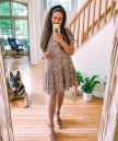 Target Leopard Print Ruffle Hem Dress