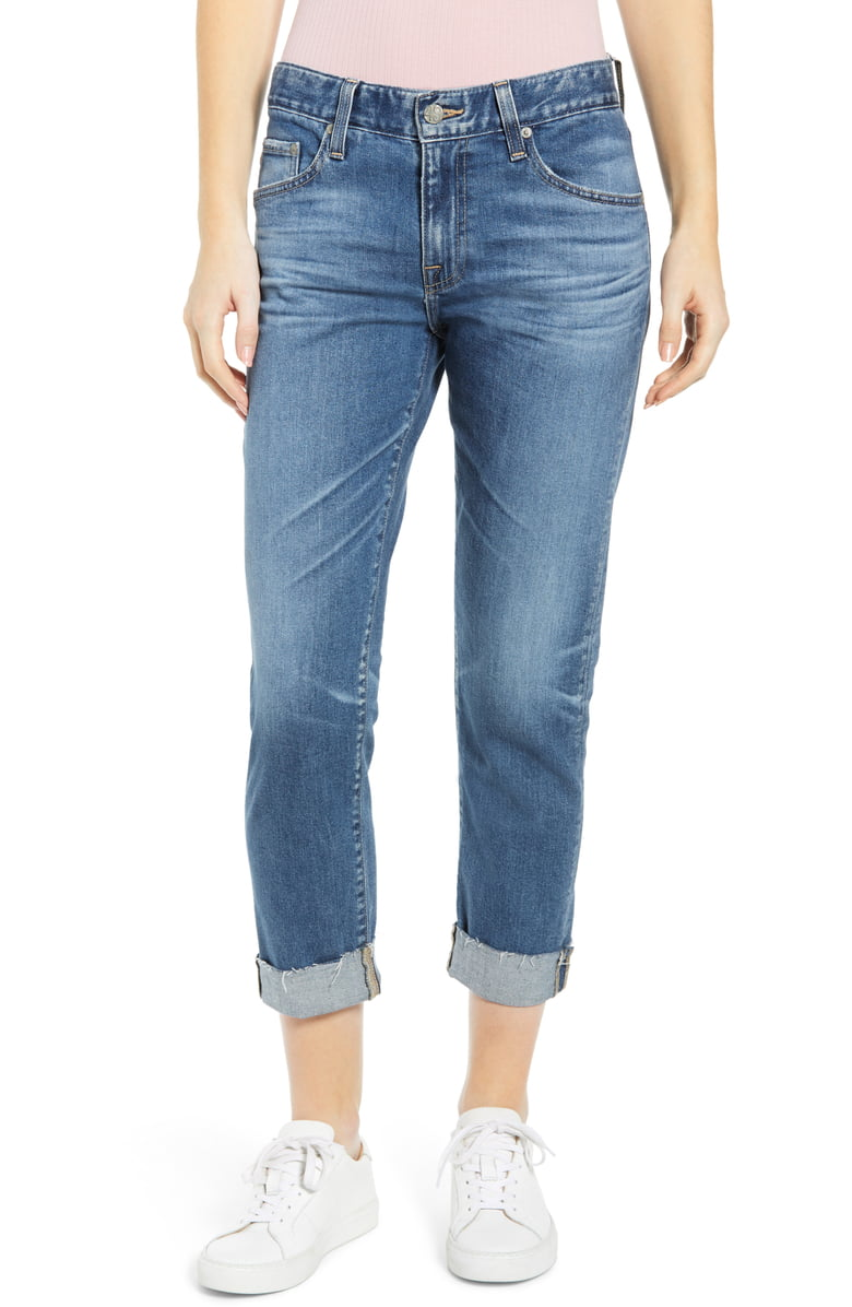 AG Ex-boyfriend Slim Jeans | Nordstrom Anniversary Sale by popular Maryland modest fashion blog, Dreaming Loud: image of a Nordstrom AG Boyfriend Jeans.
