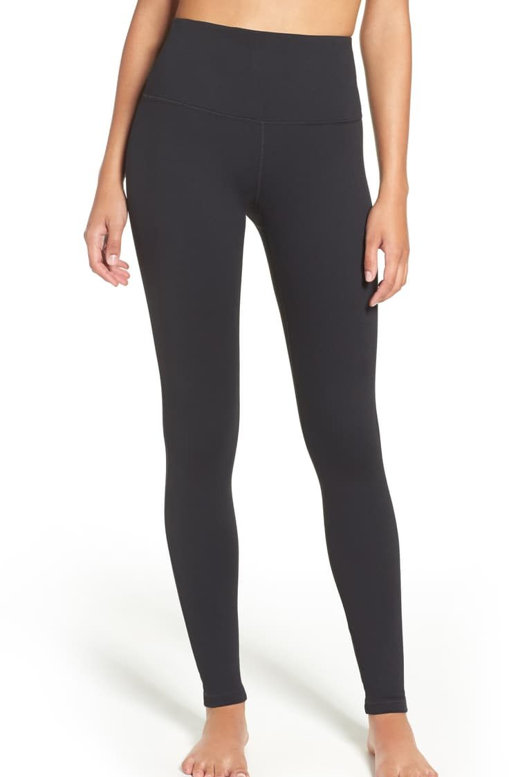 Zellla High Wasit Leggings | Nordstrom Anniversary Sale by popular Maryland modest fashion blog, Dreaming Loud: image of a Nordstrom Zella Live-In high waisted leggings.