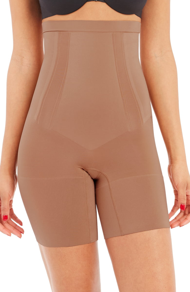 SPANX OnCore High Waist Mid Thigh Shaper Shorts | Nordstrom Anniversary Sale by popular Maryland modest fashion blog, Dreaming Loud: image of a Nordstrom OnCore High Waist Mid Thigh Shaper Shorts SPANX.