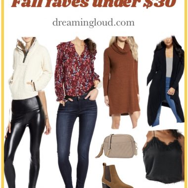 Affordable Style Fall Favorited Under $30