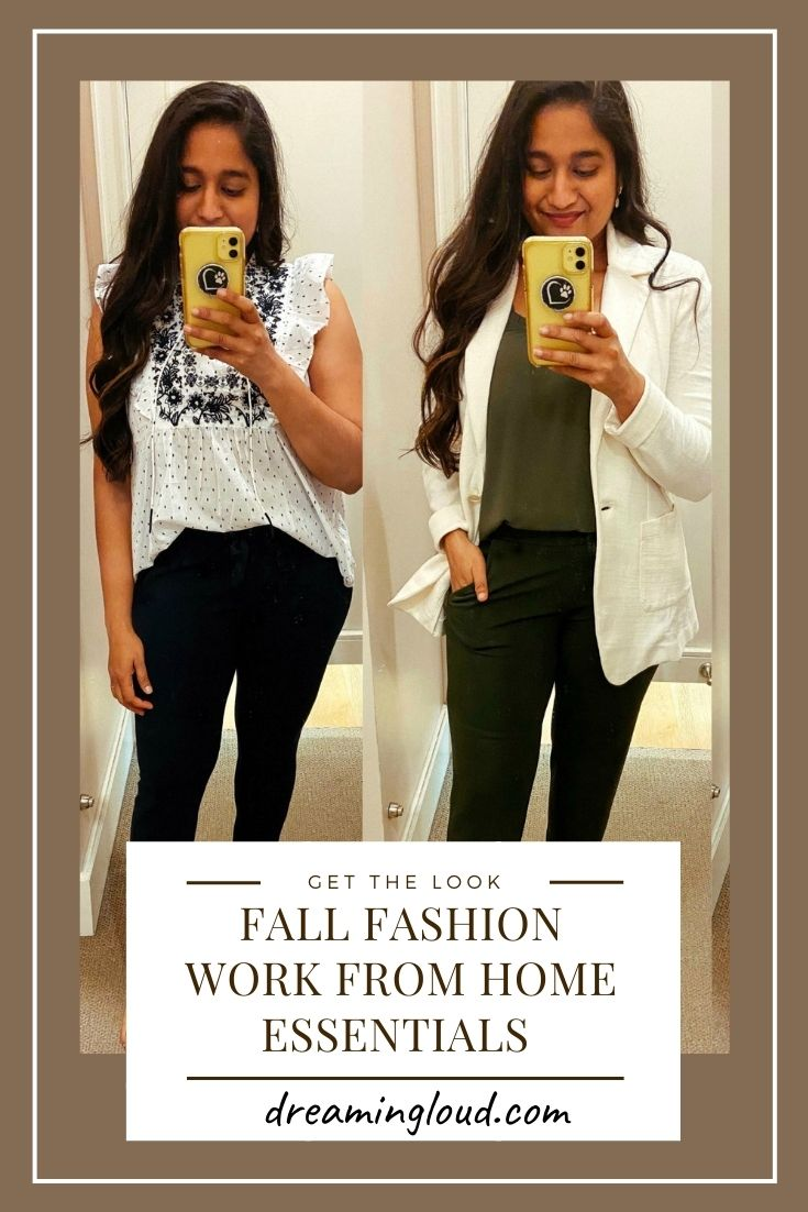 Cozy Fall Fashion Work From Home Essentials From loft 1 | Fall Clothing by popular Maryland modest fashion blog, Dreaming Loud: collage image of a woman wearing Loft clothing.