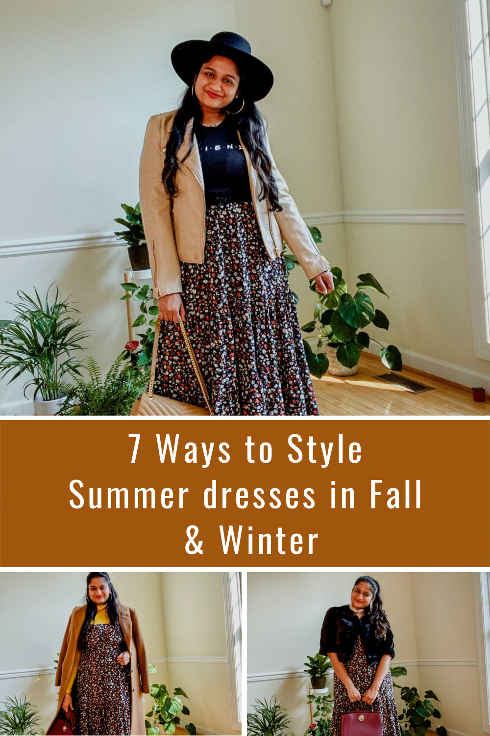 7 Ways to Style Summer dresses in Fall & Winter 2