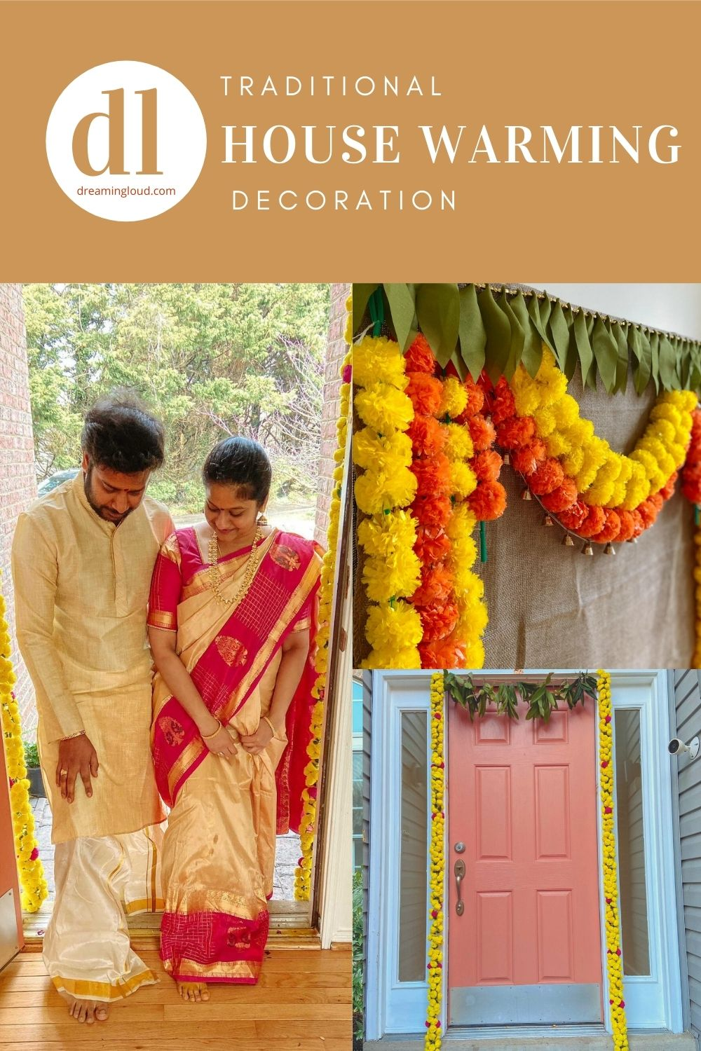 Traditional Indian Housewarming Decorations featured by top Indian lifestyle blogger, Dreaming Loud