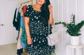 Wearing Maurices BLACK DAISY OFF THE SHOULDER BABYDOLL DRESS, Michael Kors hitney Quilted Leather Shoulder Bag by top US modest fashion blogger dreaming loud
