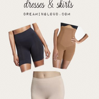 Best shorts to wear under dresses and skirts by top US modest fashion and mom blogger dreaming loud