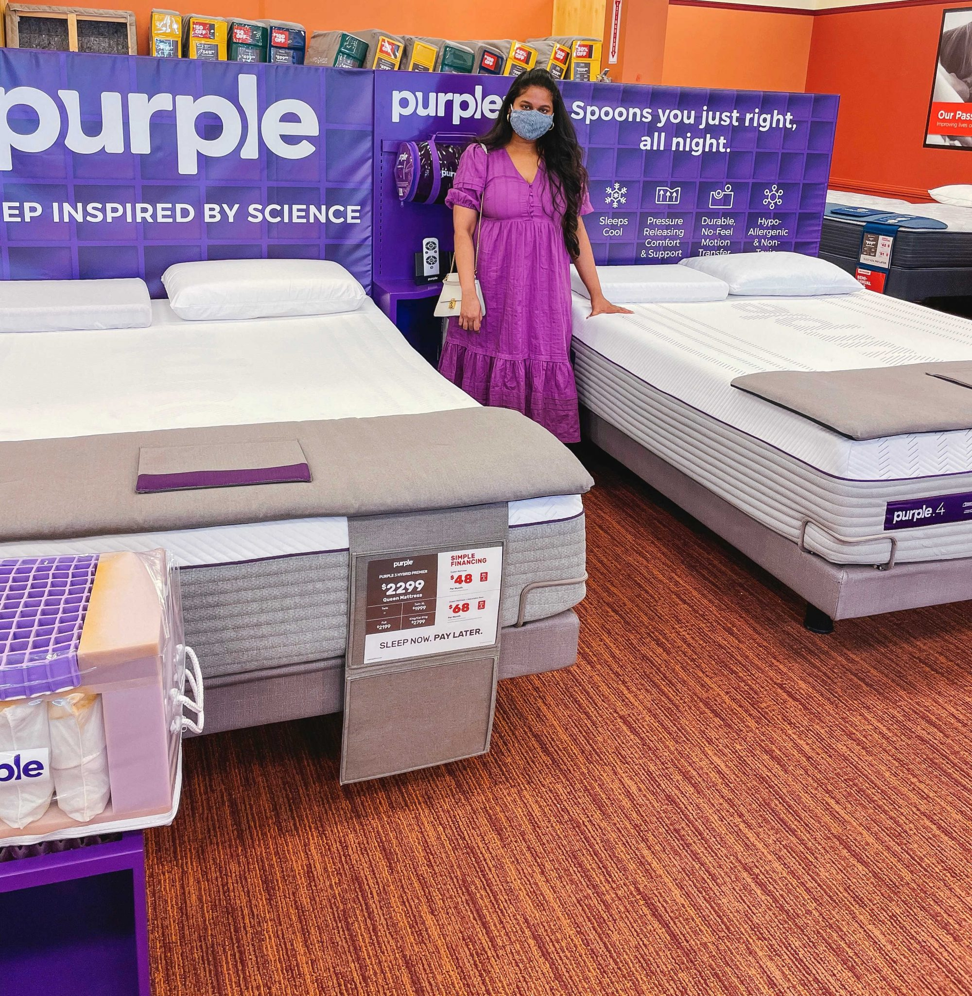 Purple Hybrid Queen Mattress Review featured by top Maryland lifestyle blogger, Dreaming Loud