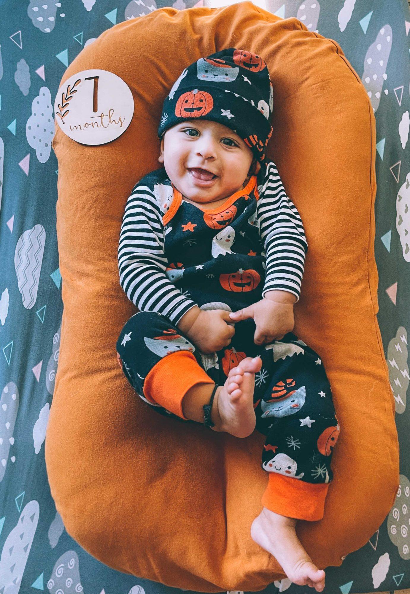 Baby v 7 months birthday update 3